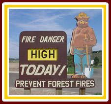 Fire Danger is HIGH Today!