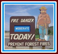 Fire Danger is MODERATE Today!