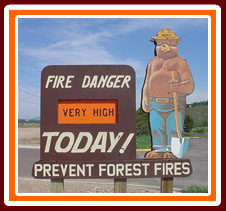 Fire Danger is VERY HIGH Today!