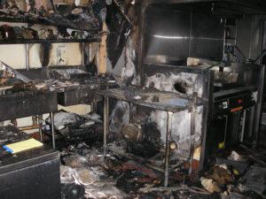 kitchen fire burn damage